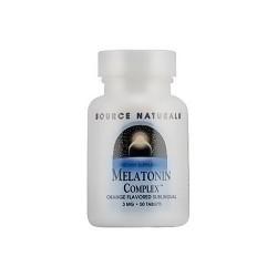 Source Naturals Melatonin complex 3 mg sublingual tablets, orange - 50 ea