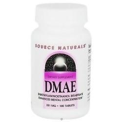 Source Naturals DMAE Dimethyminoethanol Bitartrate 351 mg - 100 Tablets