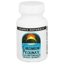 Source Naturals Chromium Picolinate 200 mcg yeast free tablets - 60 ea
