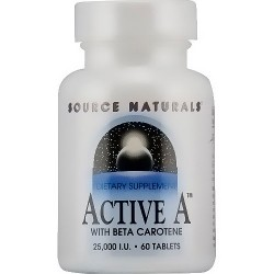 Source Naturals Active A with beta carotene 25000 IU Tablets - 60 ea