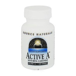 Source Naturals Active A With Beta Carotene, 25000  IU - 120 Tablets