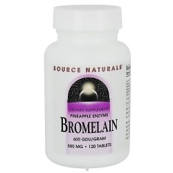 Source Naturals Bromelain 500 mg 600 GDU/gram tablets, Pineapple enzyme - 120 ea
