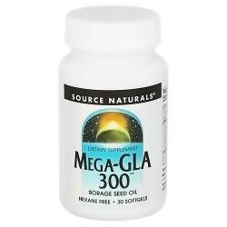 Source Naturals Mega-GLA 300 mg borage seed oil softgels - 30 ea