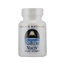 Source Naturals No flush niacin 500 mg tablets - 30 ea