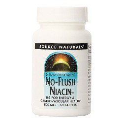 Source Naturals No flush niacin 500 mg dietary supplement tablets - 60 ea