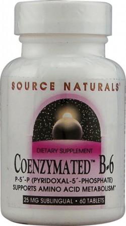 Source naturals coenzymated B-6 25 mg sublingual tablets - 60 ea