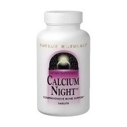 Source Naturals Calcium Night Formula comprehensive bone support tablets - 60 ea