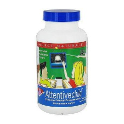 Attentive child chewable wafers for mental concentration, 60 ea