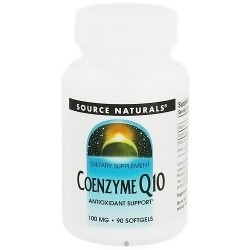 Coenzyme Q10 100 mg dietary supplement capsules for antioxidant support - 90 ea