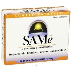 Source Naturals SAMe S-Adenosyl-L-Methionine 200 mg Tablets - 20 ea