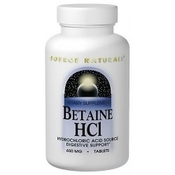 Source Naturals Betaine HCL digestive support tablets - 90 ea