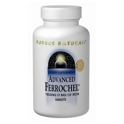 Source Naturals Advanced ferrochel yielding 27 mg of iron tablets - 90 ea