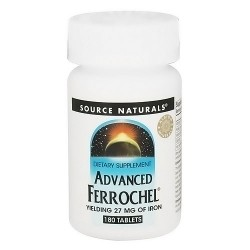 Source Naturals Advanced ferrochel yielding 27 mg of iron tablets - 180 ea