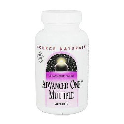 Source Naturals Advanced one multiple no iron tablets - 90 ea