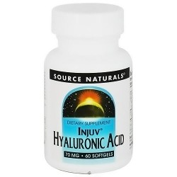 Source Naturals Injuv hyaluronic acid 70 mg dietary supplement softgels for joint support - 60 ea