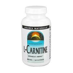 Source Naturals L-Carnitine 500 mg capsules - 120 ea