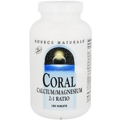Source Naturals Coral Calcium and Magnesium 2:1 Ratio - 180 Tablets