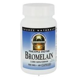 Source Naturals Bromelain 2000 GDU 500 mg capsules - 60 ea