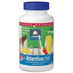 Source Naturals Attentive Child Chewable Wafers - 120 count