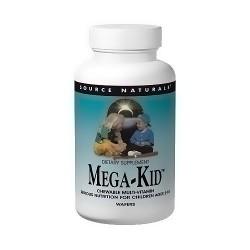 Source Naturals Mega-kid chewable multi-vitamin wafers -120 ea