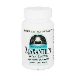 Zeaxanthin with lutein 10 mg dietary supplement capsules to support eye antioxidant - 60 ea