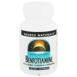 Source Naturals Benfotiamine fat soluble vitamin B-1 150 mg tablets - 60 ea