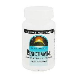 Source Naturals Benfotiamine fat soluble vitamin B-1 150 mg tablets - 120 ea