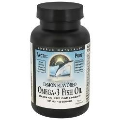 Source Naturals Lemon Flavored Omega-3 Fish Oil 800 mg - 60 Softgels