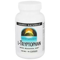 Source Naturals L-Tryptophan 500 mg capsules - 90 ea