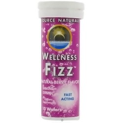 Source Naturals Wellness fizz natural berry flavor immune defense wafers - 10 ea