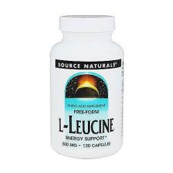 Source Naturals L-Leucine 500 mg capsules - 120 ea