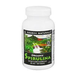 Source Naturals Organic Spirulina 500 mg Tablets - 200 ea