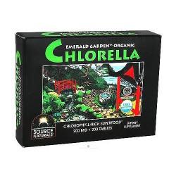 Source Naturals emerald garden organic Chlorella 200 mg tablets - 300 ea