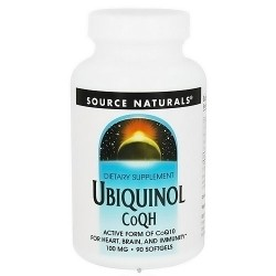 Source Naturals Ubiquinol Co QH 100 mg softgels for heart, brain and immunity building- 90 ea