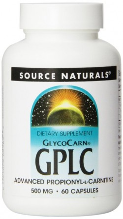 Source naturals glycocarn gplc 500 mg capsules - 60 ea