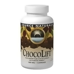 Source Naturals ChocoLift 500 mg chocamine plus cocoa extract capsules - 120 ea