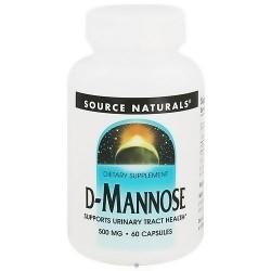 Source Naturals D-Mannose 500 mg capsules - 60 ea