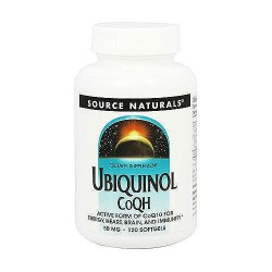 Source Naturals Ubiquinol CoQH 50 mg softgels - 120 ea