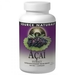 Source Naturals Acai extract 500 mg capsules - 240 ea