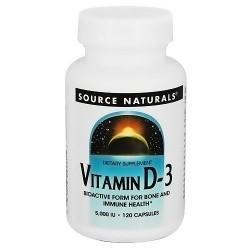 Source Naturals Vitamin D-3 5000 I.U Capsules - 120 ea