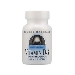 Source Naturals Vitamin D-3 1000 IU softgels - 100 ea