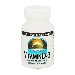 Source Naturals Vitamin D-3 5000 IU softgels - 100 ea