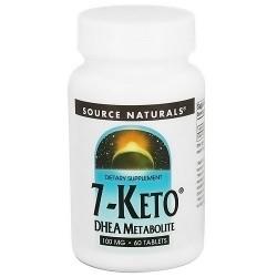 Source Naturals 7-Keto DHEA metabolite 100 mg tablets - 60 ea