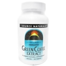Source Naturals Green coffe extract energizer 500 mg tablets - 120 ea