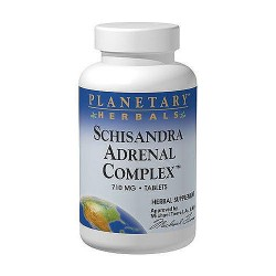 Planetary Herbals schisandra adrenal complex 710 mg herbal supplement tablets, 60 ea