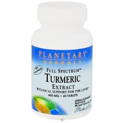 Planetary Herbals Turmeric Extract Full Spectrum 450mg Tablets - 60 ea