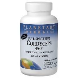 Planetary Herbals Cordyceps 450 Full Spectrum 450 mg Tablets - 120 ea