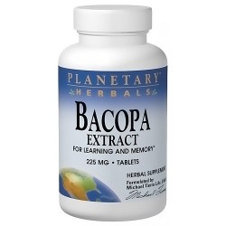 Planetary Herbals Bacopa extract 225 mg herbal supplement tablets - 120 ea
