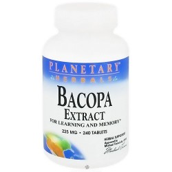 Planetary Herbals Bacopa Extract 225mg Tablets for Memory - 240 ea
