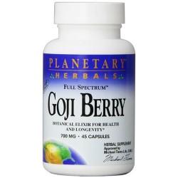Planetary herbals goji berry ext full spectrum 700 mg vegetarian capsules  -  45 ea